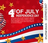 happy independence day of the... | Shutterstock .eps vector #1039851547