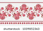 beautiful horizontal border in... | Shutterstock .eps vector #1039852363