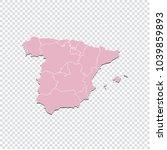 spain map   high detailed... | Shutterstock .eps vector #1039859893