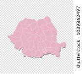 romania map   high detailed...   Shutterstock .eps vector #1039862497