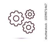 vector icon cogwheel   Shutterstock .eps vector #1039871467