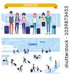 friends travel together. vector ... | Shutterstock .eps vector #1039873453