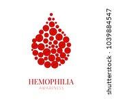 world hemophilia day. drop of... | Shutterstock .eps vector #1039884547