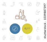 cosmetics icons set with cream...