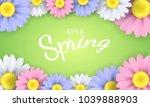 hello spring phrase. seasonal...   Shutterstock .eps vector #1039888903