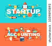 startup and accounting set of... | Shutterstock .eps vector #1039895893