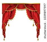 vector realistic luxury red... | Shutterstock .eps vector #1039897597