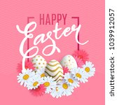 happy easter background withl... | Shutterstock .eps vector #1039912057