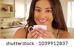 close up of cheerful latina... | Shutterstock . vector #1039912837