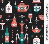 vector pixel seamless pattern...   Shutterstock .eps vector #1039920343