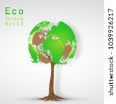 green world tree as environment ... | Shutterstock .eps vector #1039926217