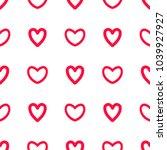 read hearts doodle pattern... | Shutterstock .eps vector #1039927927
