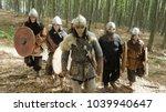 Medieval Vikings Running In Th...