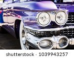 classic car headlights close up | Shutterstock . vector #1039943257