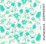 seamless vector floral pattern... | Shutterstock .eps vector #1039945597