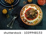 arabic cuisine  egyptian...   Shutterstock . vector #1039948153