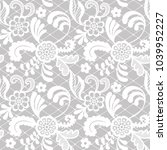 white lace seamless pattern...   Shutterstock .eps vector #1039952227