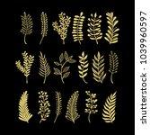 vector floral elements in... | Shutterstock .eps vector #1039960597