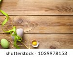 easter background with easter...   Shutterstock . vector #1039978153