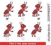 the educational kid matching... | Shutterstock .eps vector #1039980097