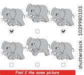 the educational kid matching... | Shutterstock .eps vector #1039980103