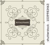 ornament design invitation...   Shutterstock .eps vector #1039983463
