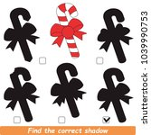 candy cane beautiful shadow set ... | Shutterstock .eps vector #1039990753
