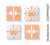 vector set of different gift... | Shutterstock .eps vector #1039993687