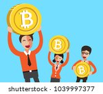 cryptocurrency concept business ... | Shutterstock .eps vector #1039997377