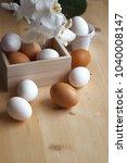 free range eggs   Shutterstock . vector #1040008147