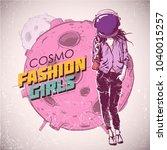 space fashion illustration.... | Shutterstock .eps vector #1040015257