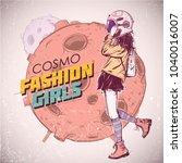 space fashion illustration....   Shutterstock .eps vector #1040016007