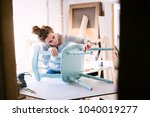 small business of a young woman. | Shutterstock . vector #1040019277