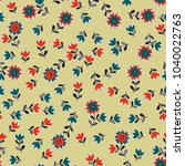 simple cute pattern in small... | Shutterstock .eps vector #1040022763