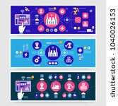 infographics smart industry 4.0.... | Shutterstock .eps vector #1040026153