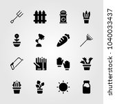 garden icons set. vector... | Shutterstock .eps vector #1040033437