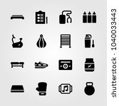 fitness icons set. vector... | Shutterstock .eps vector #1040033443