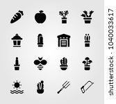 garden icons set. vector... | Shutterstock .eps vector #1040033617