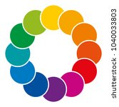 rainbow colored and overlapping ... | Shutterstock .eps vector #1040033803