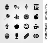 food and drinks icons set.... | Shutterstock .eps vector #1040033947