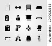 fitness icons set. vector... | Shutterstock .eps vector #1040033953