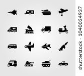 transport icons set. vector... | Shutterstock .eps vector #1040034937