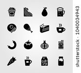 food and drinks icons set.... | Shutterstock .eps vector #1040034943