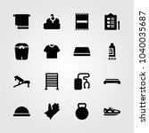 fitness icons set. vector... | Shutterstock .eps vector #1040035687
