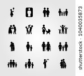 humans icons set. vector... | Shutterstock .eps vector #1040035873