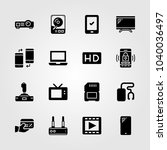 technology icons set. vector... | Shutterstock .eps vector #1040036497