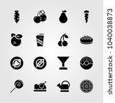 food and drinks icons set.... | Shutterstock .eps vector #1040038873