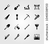 tools icons set. vector...   Shutterstock .eps vector #1040038933