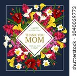 mother day thank you card with... | Shutterstock .eps vector #1040039773