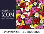 mother day greeting card with... | Shutterstock .eps vector #1040039803